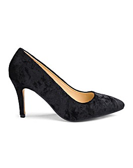 Velvet Court Shoes D Fit