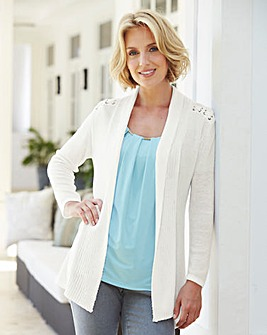 Nightingales Eyelet Cardigan
