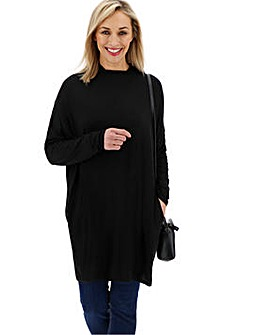 Side Pocket Tunic High Neck