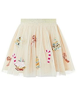 Monsoon Disco Christmas Skirt