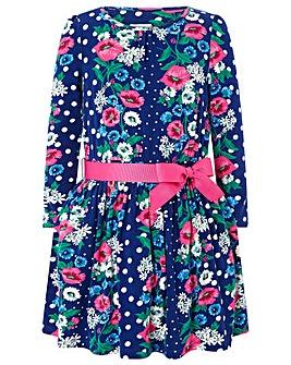 Monsoon Camellia Floral Jersey Dress