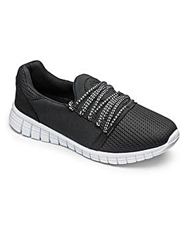 c1b95bf70e48 Be Active Over laced Trainers EEE Fit