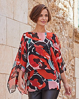 Joanna Hope Red Print Multiway Kaftan