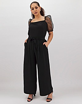 Wide Leg Tie Waist Trousers Regular
