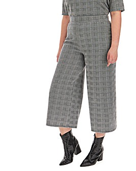 Check Stretch Jersey Culottes