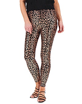 Metallic Stretch Leggings Regular