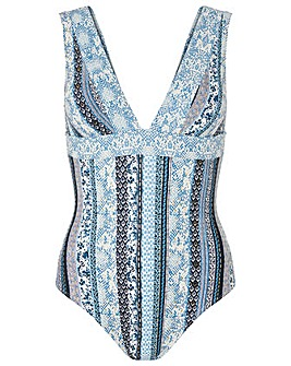 Monsoon Micah Print Swimsuit