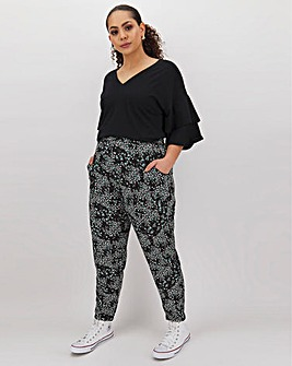 Floral Print Jersey JoggerTrousers