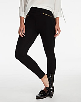Zip Detail Shaper Leggings Regular