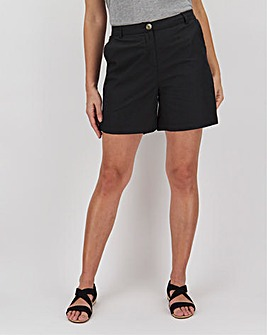 Basic Woven Cotton Pull On Shorts