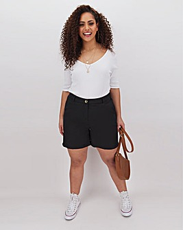 Basic Woven Cotton Pull On ShortsBasic Cotton Shorts