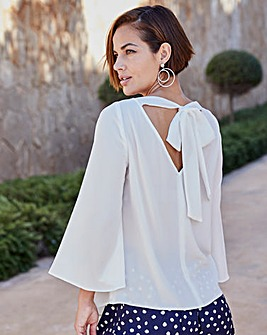 Joanna Hope Tie Back Blouse