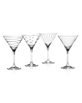 Mikasa Cheers Set Of 4 Cocktail Glasses