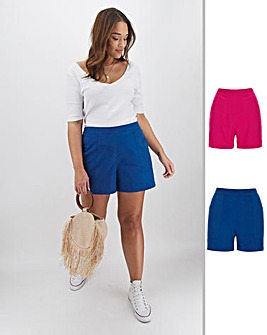 2 Pack Woven Shorts