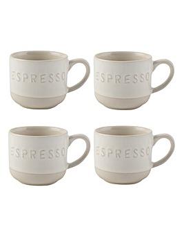 La Cafetiere Stoneware Espresso Mugs Set