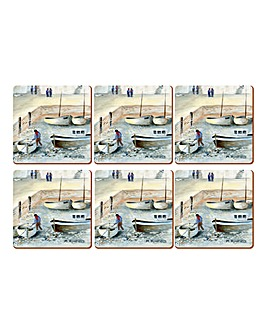 Cornish Harbour Set 6 Premium Coasters