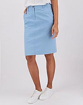 Cotton Rich Knee Length Chino Skirt
