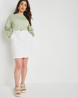 Stretch Chino Skirt