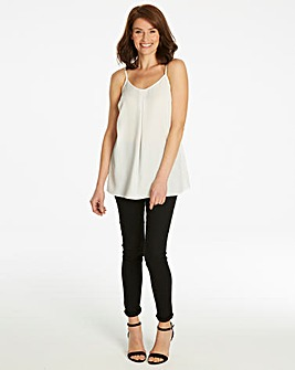b5ff6e285e9e1 Warm Ivory Strappy Cami Top