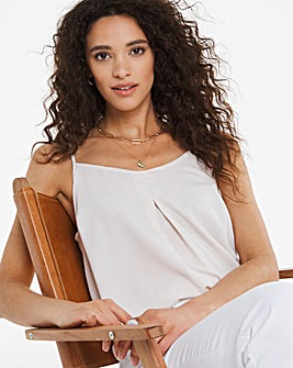 Warm Ivory Woven Strappy Cami