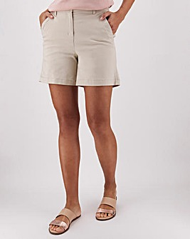 Cotton Rich Stretch Turn up Chino Shorts