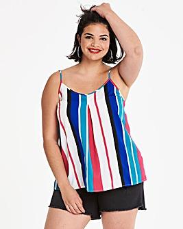 Stripe Strappy Cami Top