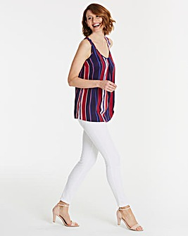 Stripe Sleeveless Vest Top