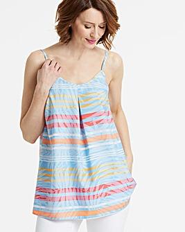Blue Stripe Strappy Cami Top