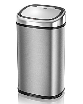 Tower 58L Stainless Steel Square Sensor Bin