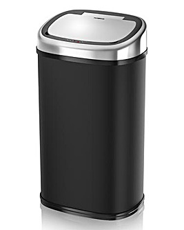Tower 58L Black Square Sensor Bin