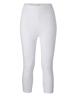 Essential Crop Stretch Jersey Leggings
