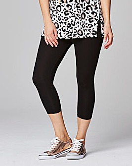 Short Crop Jersey Leggings