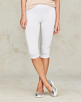 Essential Crop Stretch Jersey Leggings