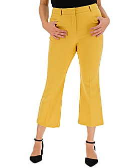 Chartreuse Molly Everyday Crop Trousers