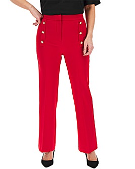 Red Amber Everyday High Waist Trousers