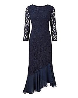 Joanna Hope Frill Midi Lace Dress