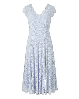Joanna Hope Midi Scallop Lace Dress