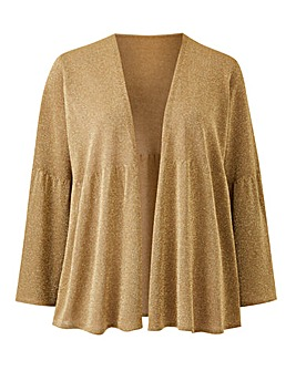 Joanna Hope Metallic Shrug