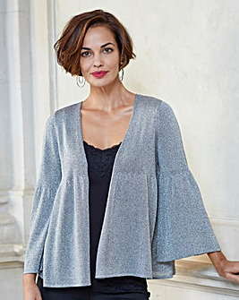Joanna Hope Silver Metallic Shrug