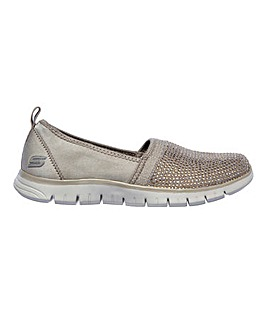 Skechers Ez Flex Renew Shimmer Slip On Leisure Shoes Standard D Fit