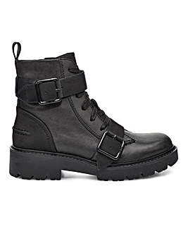 Ugg Noe Leather Biker Boots Standard Fit