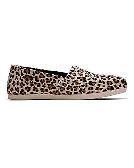 Toms Leopard Alpargata Vegan Canvas Espadrille Standard Fit