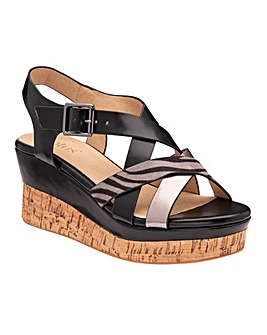 Lotus Belinda Wedge Sandals Standard D Fit