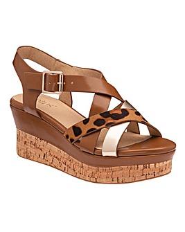 Lotus Belinda Wedge Sandals Standard D Fit