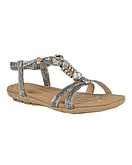 Lotus Stacey Jewelled Sandals Standard D Fit