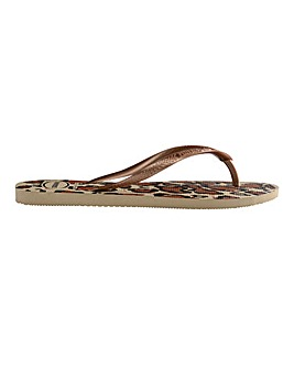 Havaianas Slim Animals Flip Flops Standard D Fit
