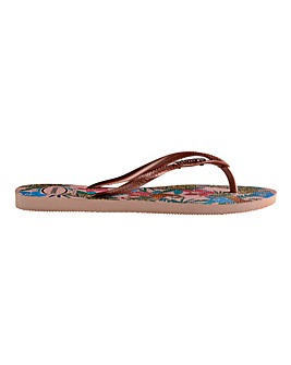 Havaianas Slim Tropical Flip Flops Standard D Fit