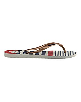 Havaianas Slip Nautical Flip Flops Standard D Fit