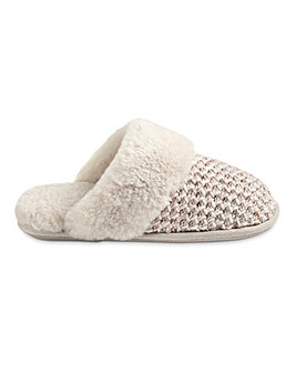Just Sheepskin Knit Addington Slipper Standard D Fit