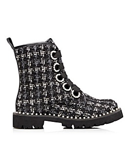 Dune Purla Lace Up Boots D Fit